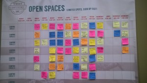 That Conference 2015 Open Spaces Schedule